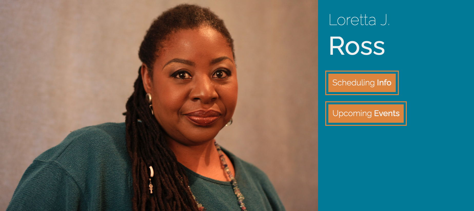 Ross's talk is available to watch for $5.00. Image shows a profile picture from Creative Commons of Loretta J. Ross.