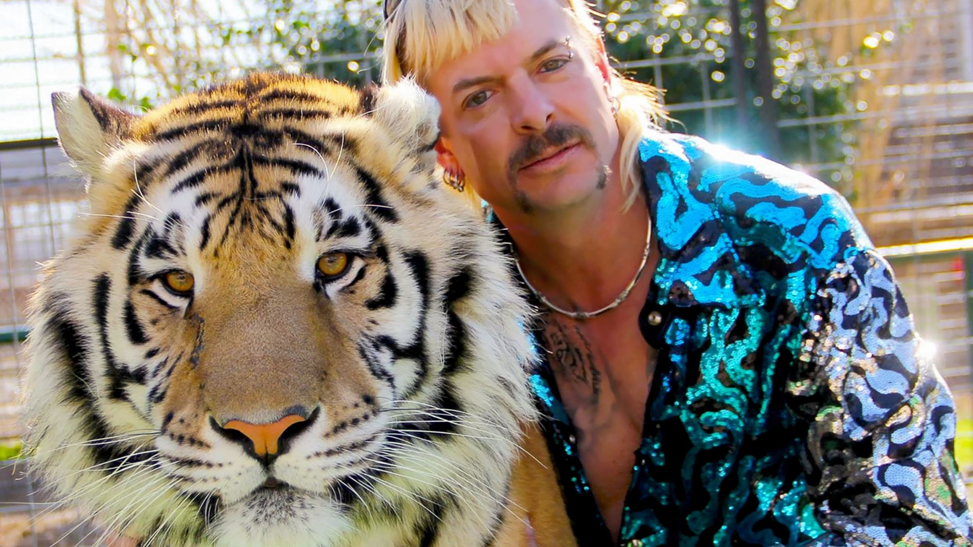 Tiger King's Joe Exotic with one of his tigers