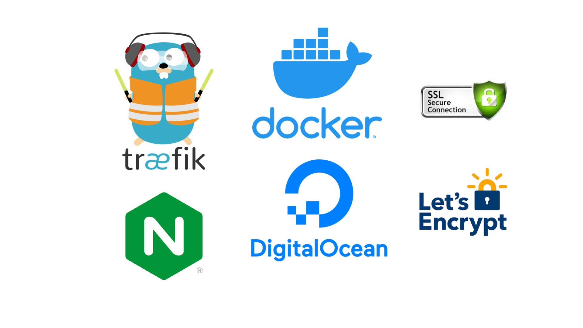 Logos of technology described in the blog post