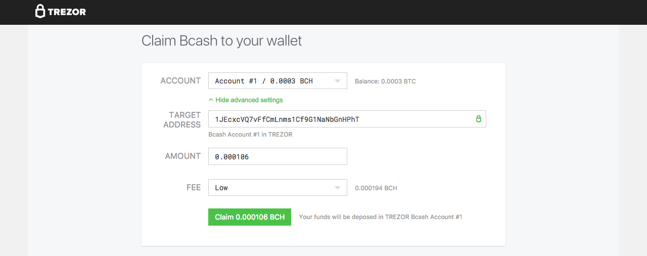 Claim Your Bitcoin Cash Bch In Trezor Wallet Trezor Blog -