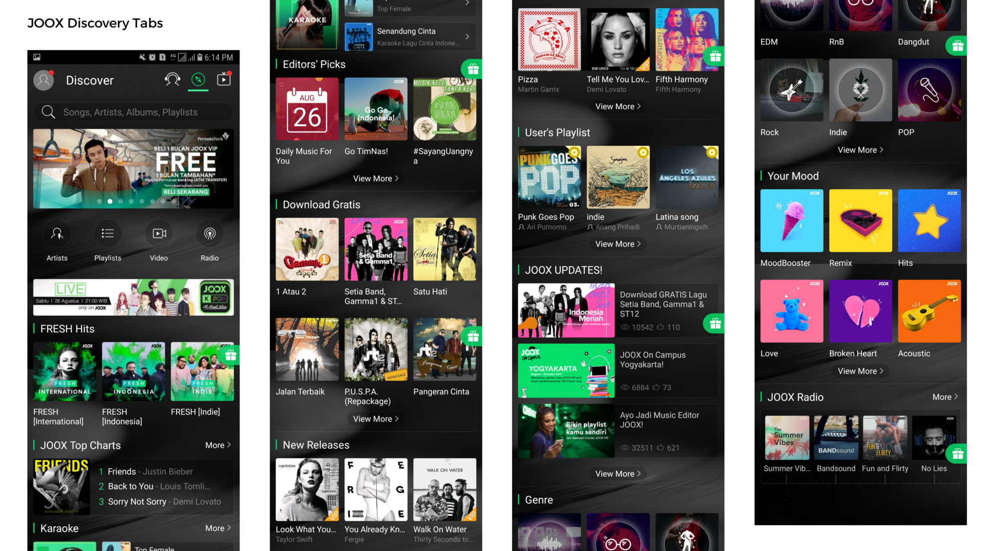 Joox How I Redesign The Apps For Easier Content Discovery