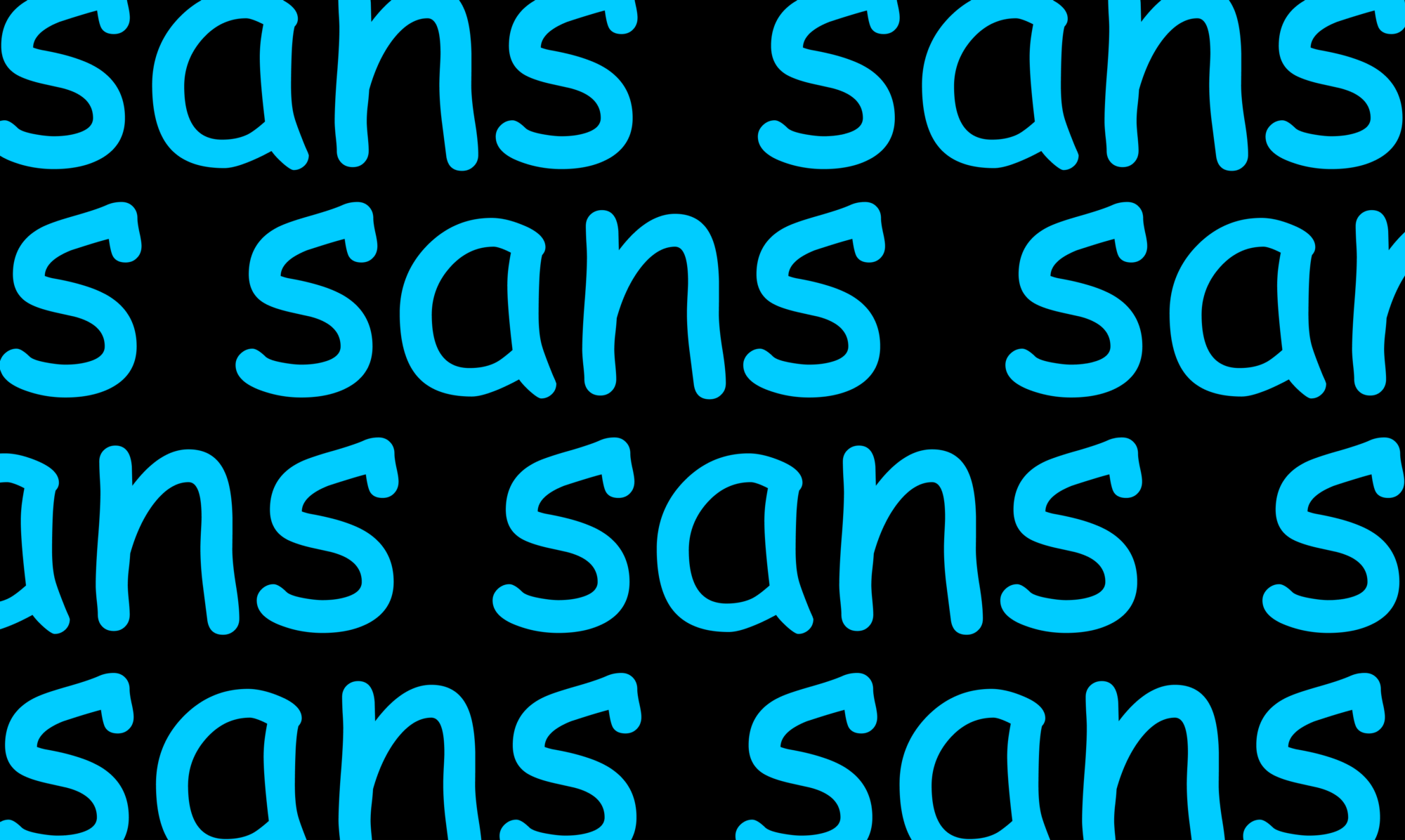 """sans"" repeated in comic sans"