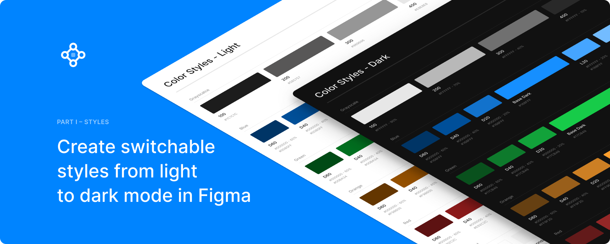 Create switchable styles from light to dark mode in Figma