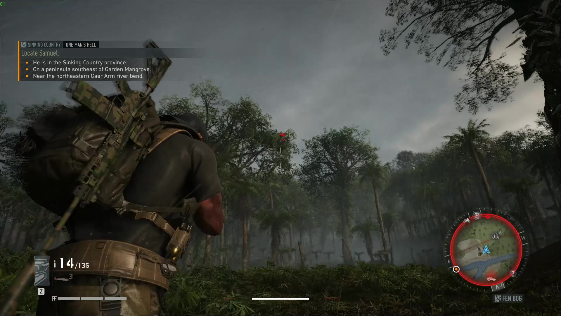 A view of your in-game character in Tom Clancy's Ghost Recon Breakpoint.