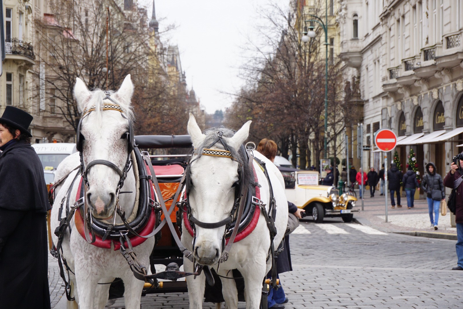 Horse carriages offering tourists a little bit of the old town nostalgia