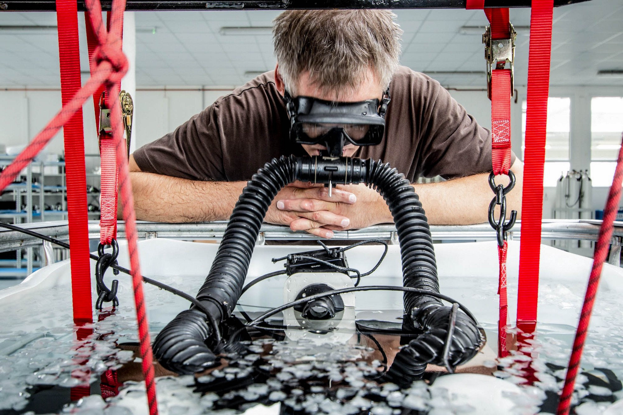 Testing of a CCR Rebreather at Divesoft