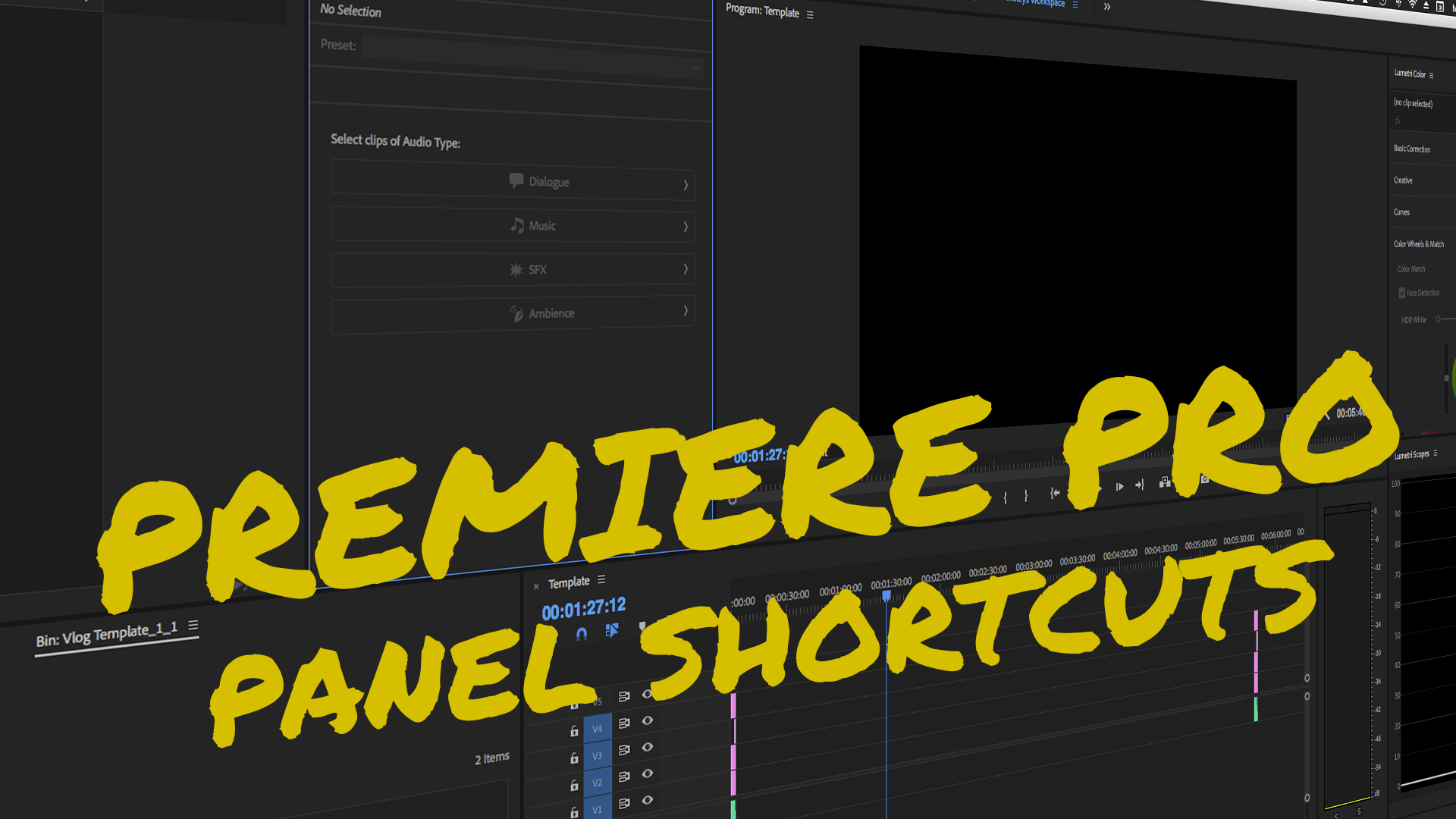 Essential Panel Shortcut Keys in Adobe Premiere Pro