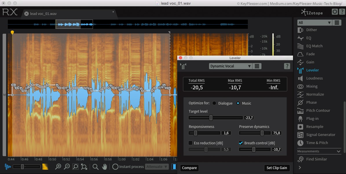 Audio compression vs  normalization and leveling - KeyPleezer Music