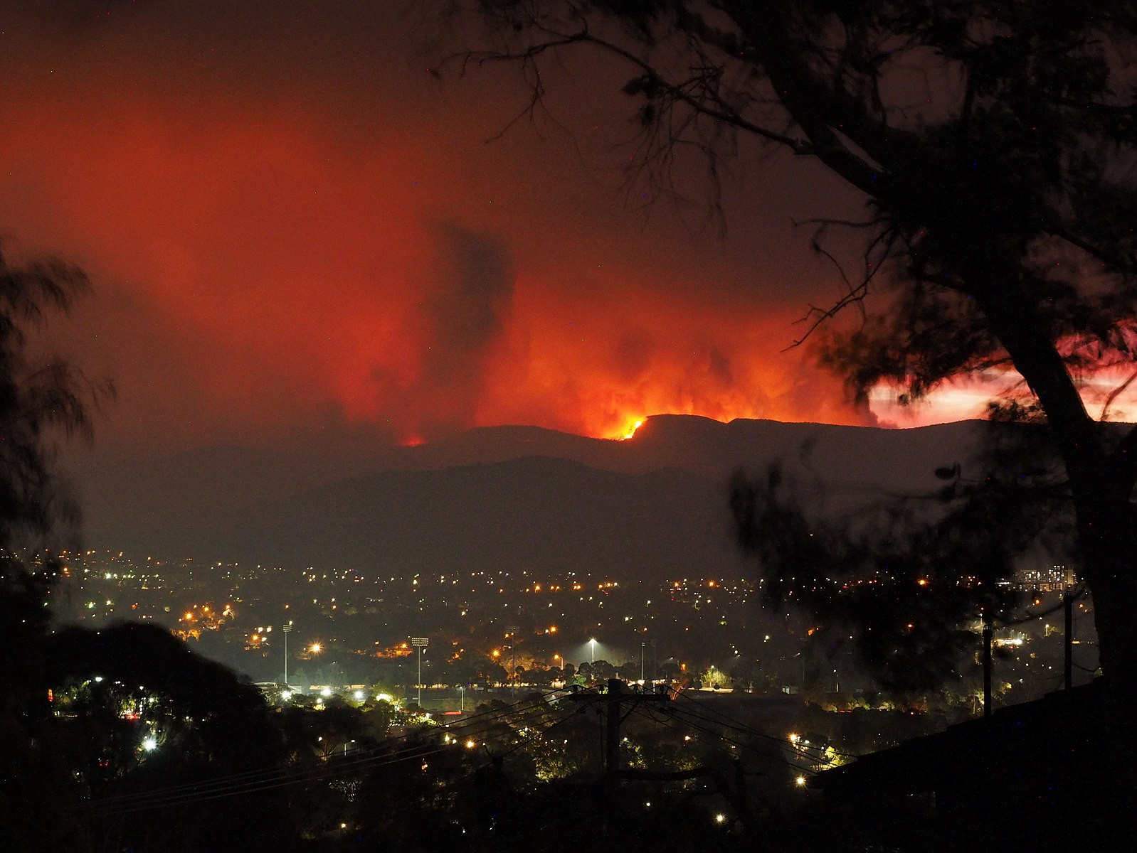 (The Orroral Valley Fire on 28 January)