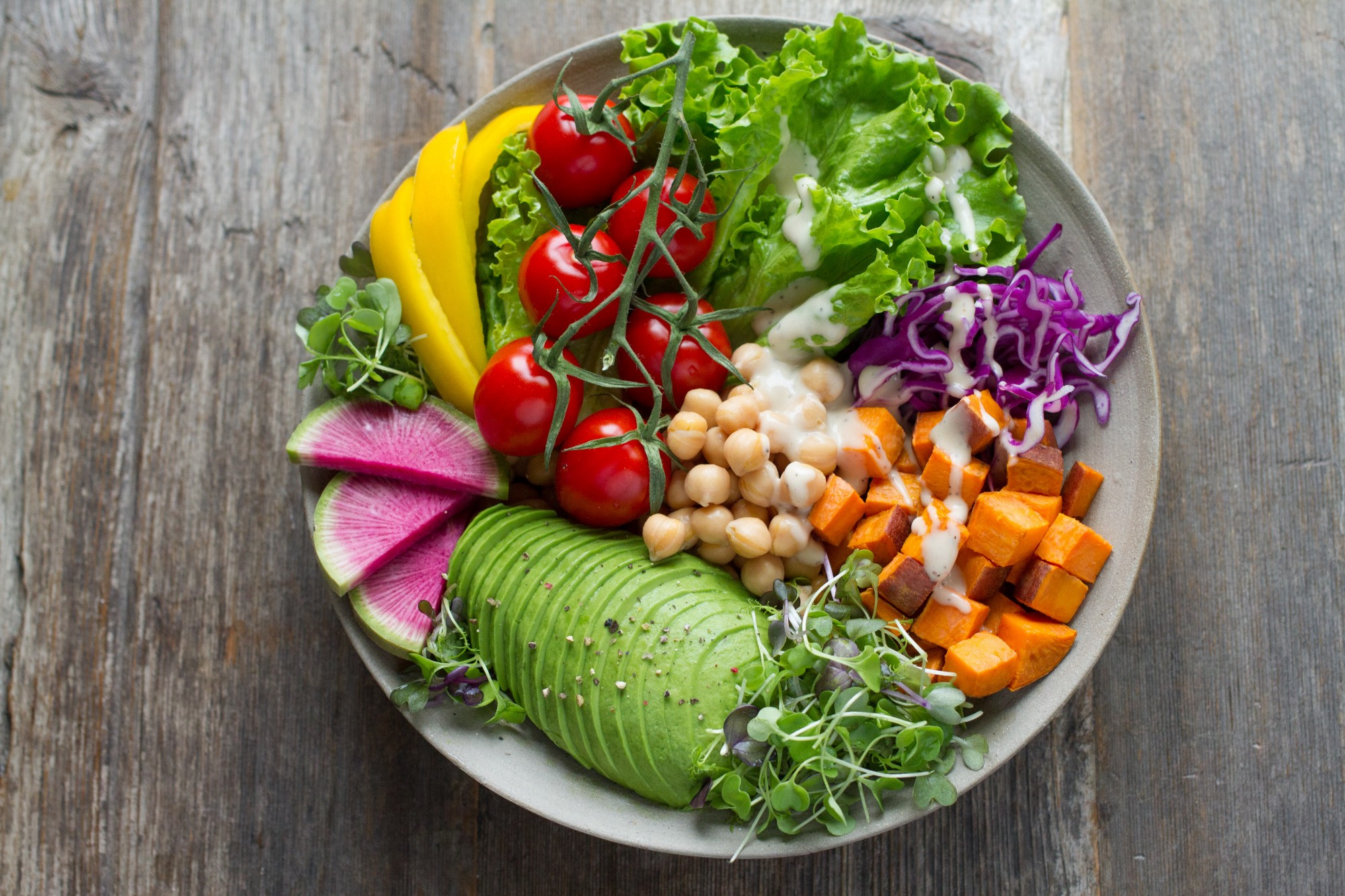 An image of a plant-based bowl
