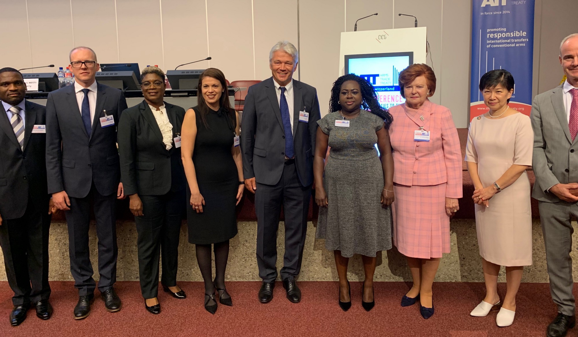 High Level Panel on Gender at the 5th Conference of States Parties to the Arms Trade Treaty. Credit: Mission of Latvia