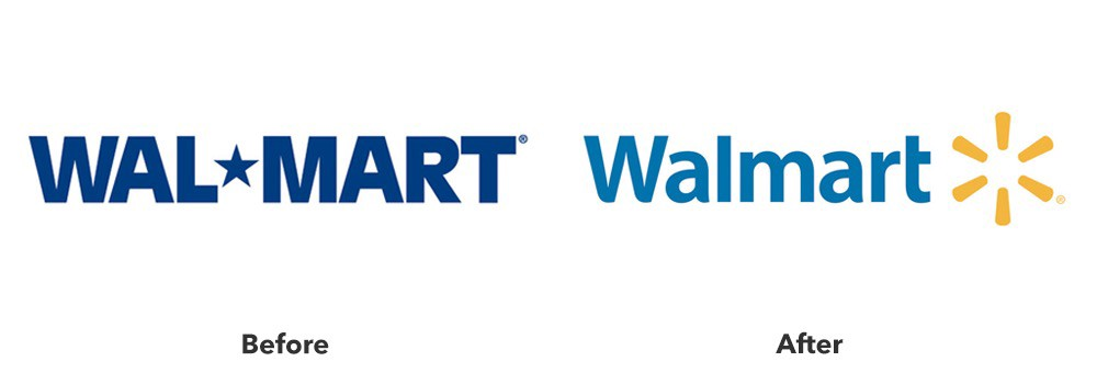 Walmart rebranding: before and after