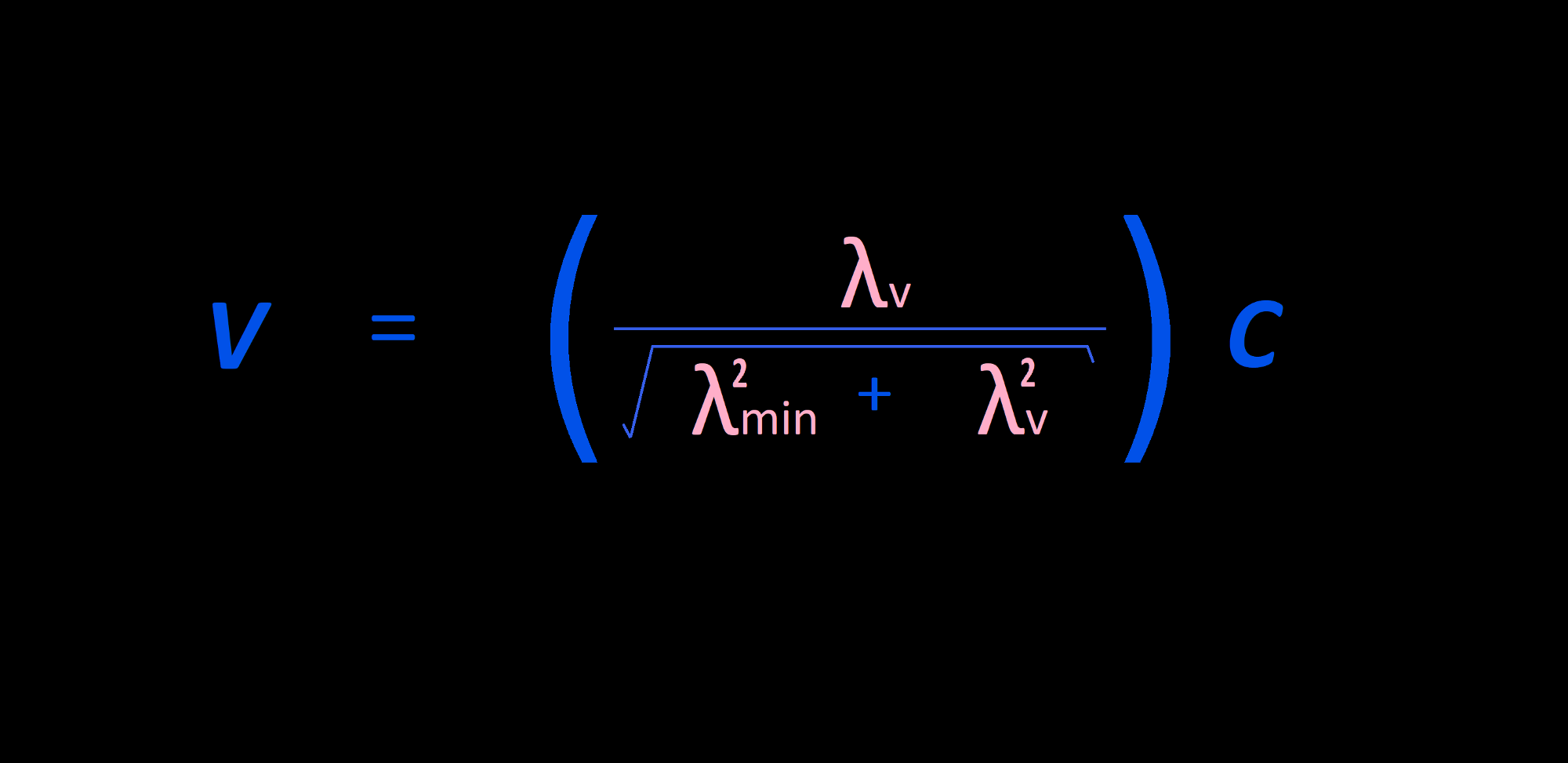 Velocity: Defined in terms of the Three-Dimensional Speed (c)