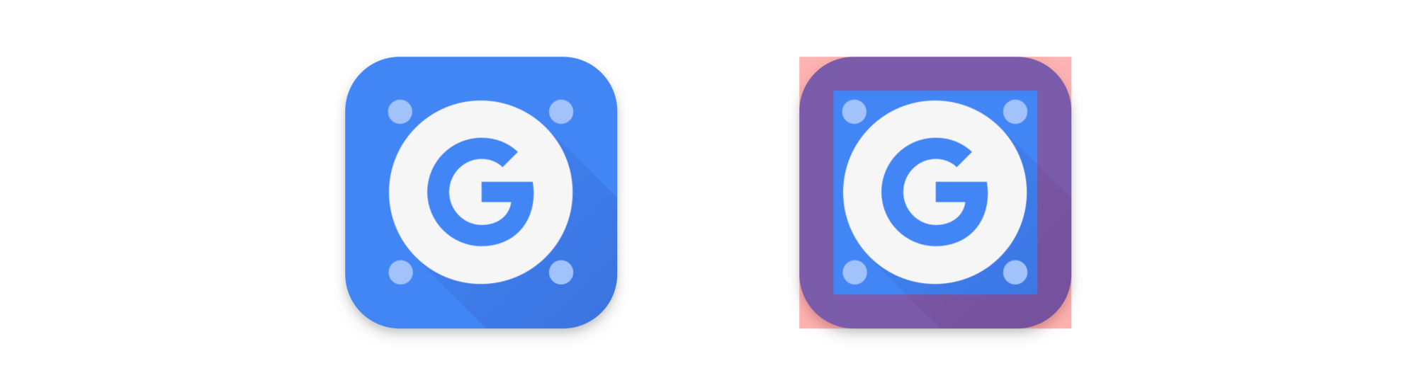 Important content in the Google Apps Device Policy icon stays within the safe area