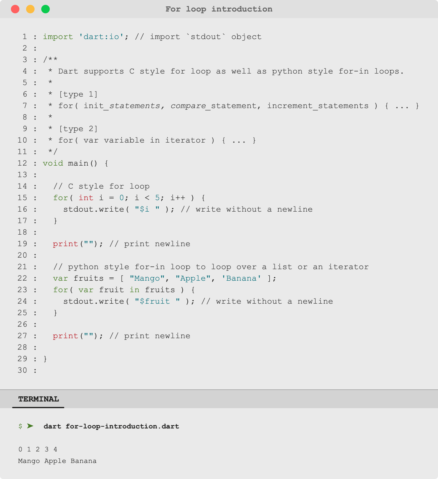 🎯 Dart DartLang Introduction for and for in loops   by Uday ...