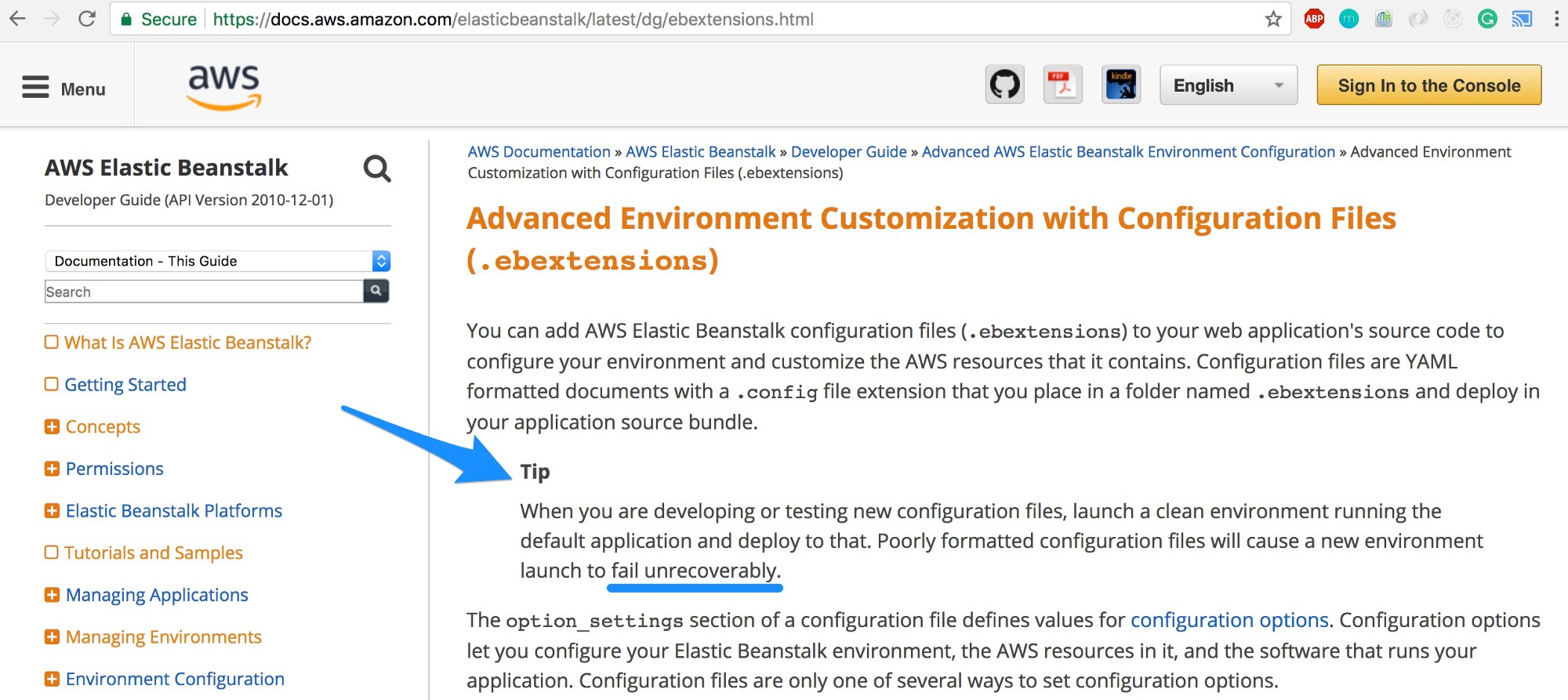 Beginner's Guide to AWS Elastic Beanstalk using Node js
