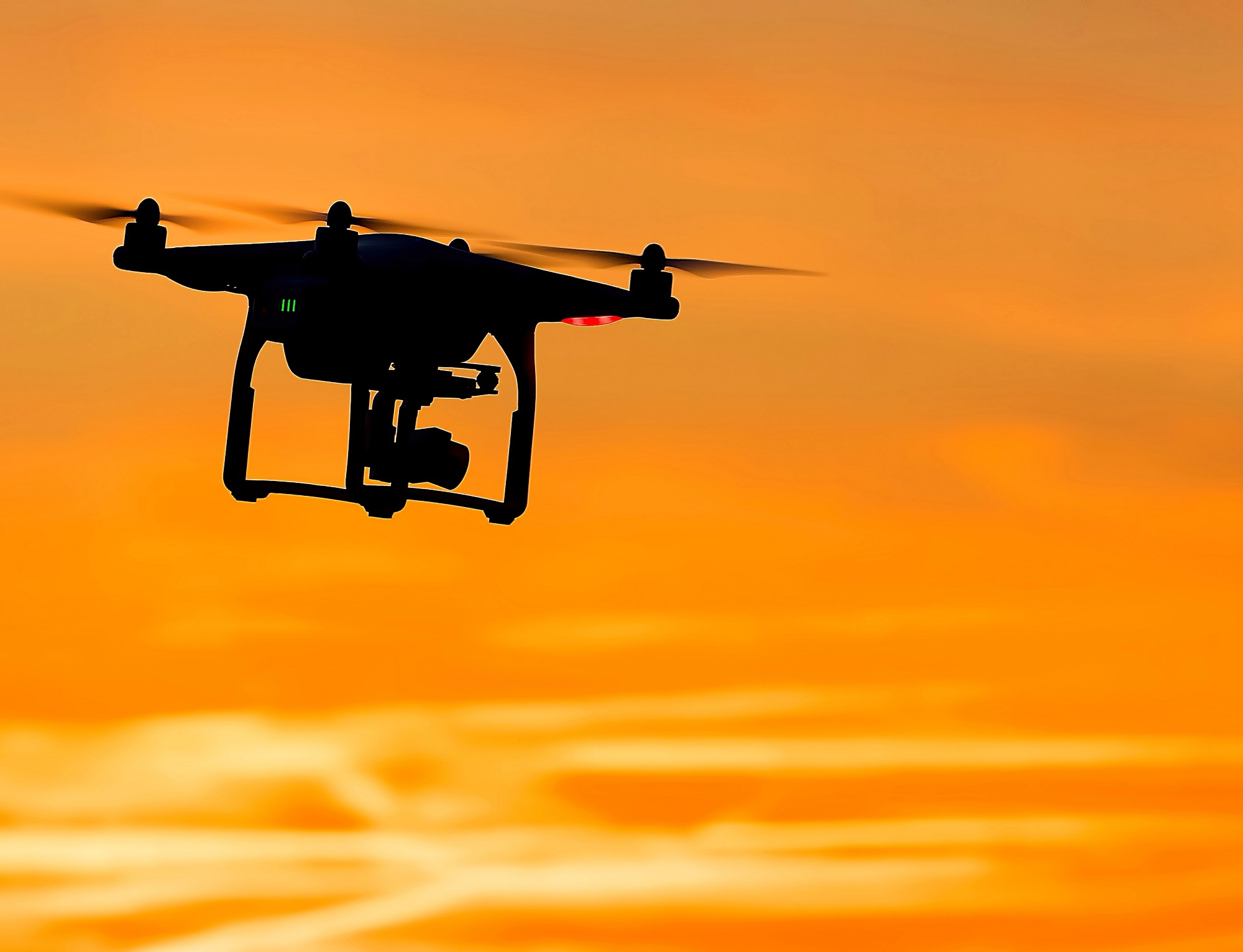 A drone at sunset