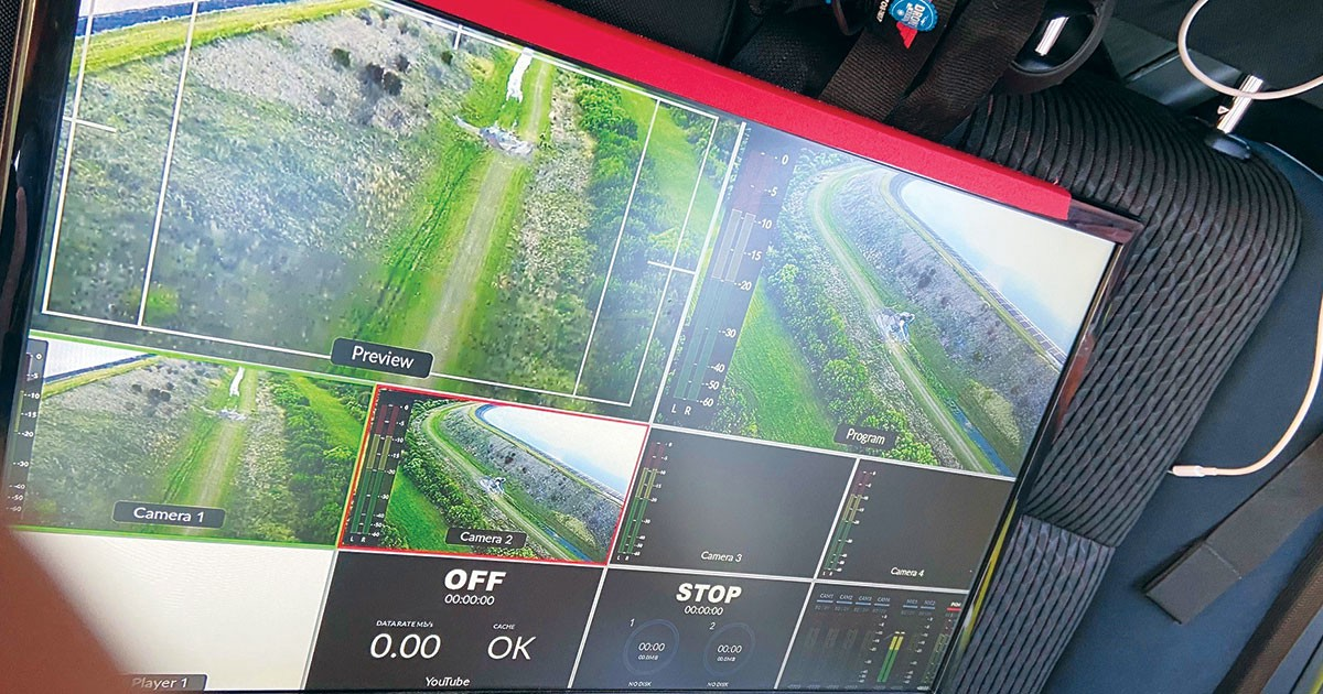 Photo of drone monitoring.