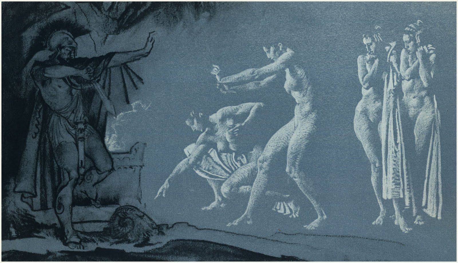 Drawing for Odysseus in Hades   William Russell FlintUnderworld From The Odyssey
