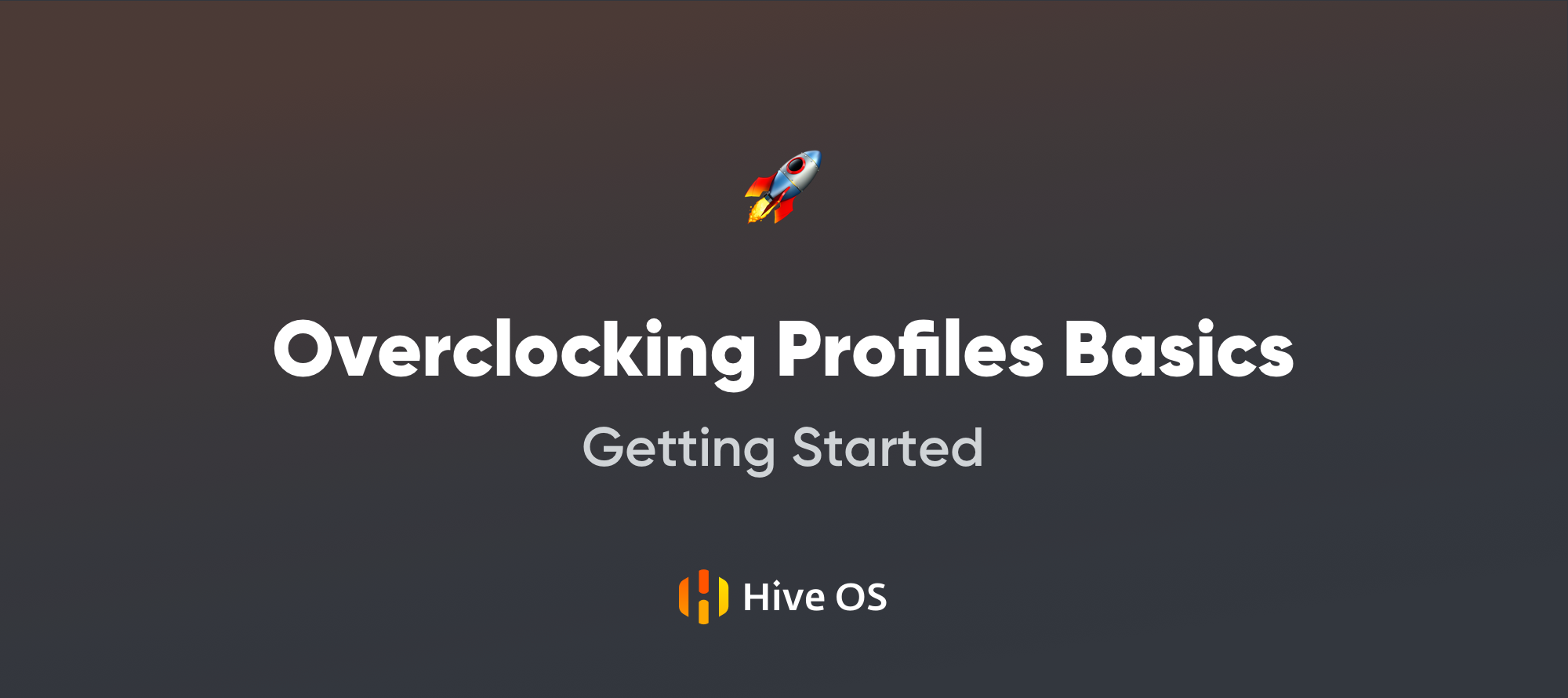 Getting Started with Hive OS — Overclocking Profiles Basics