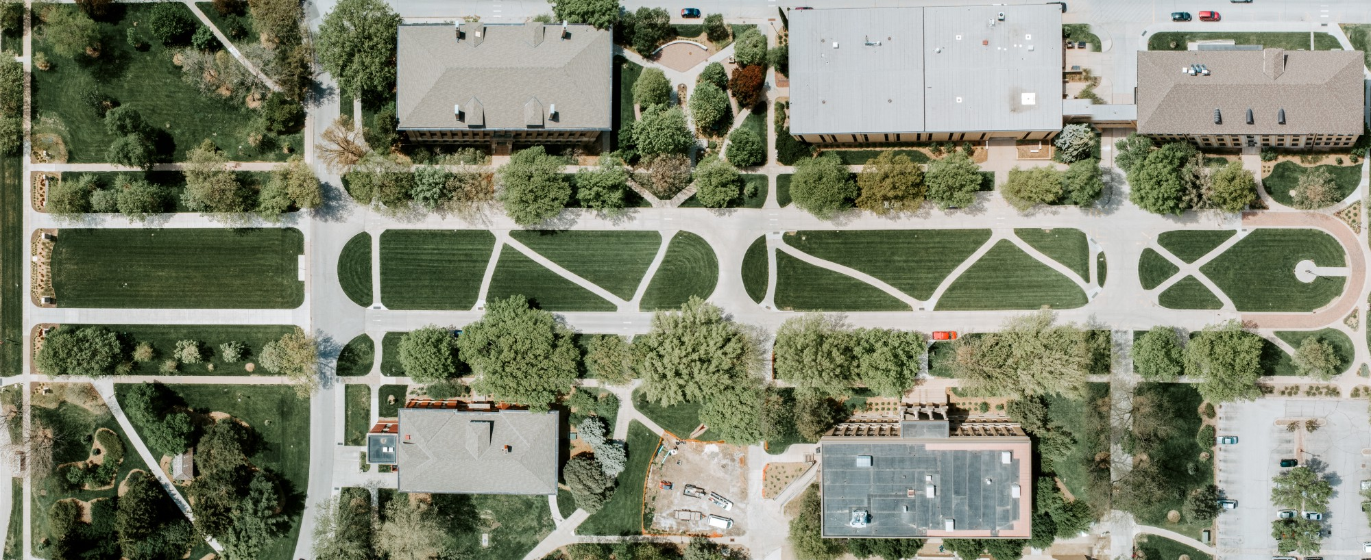 An aerial of East Campus