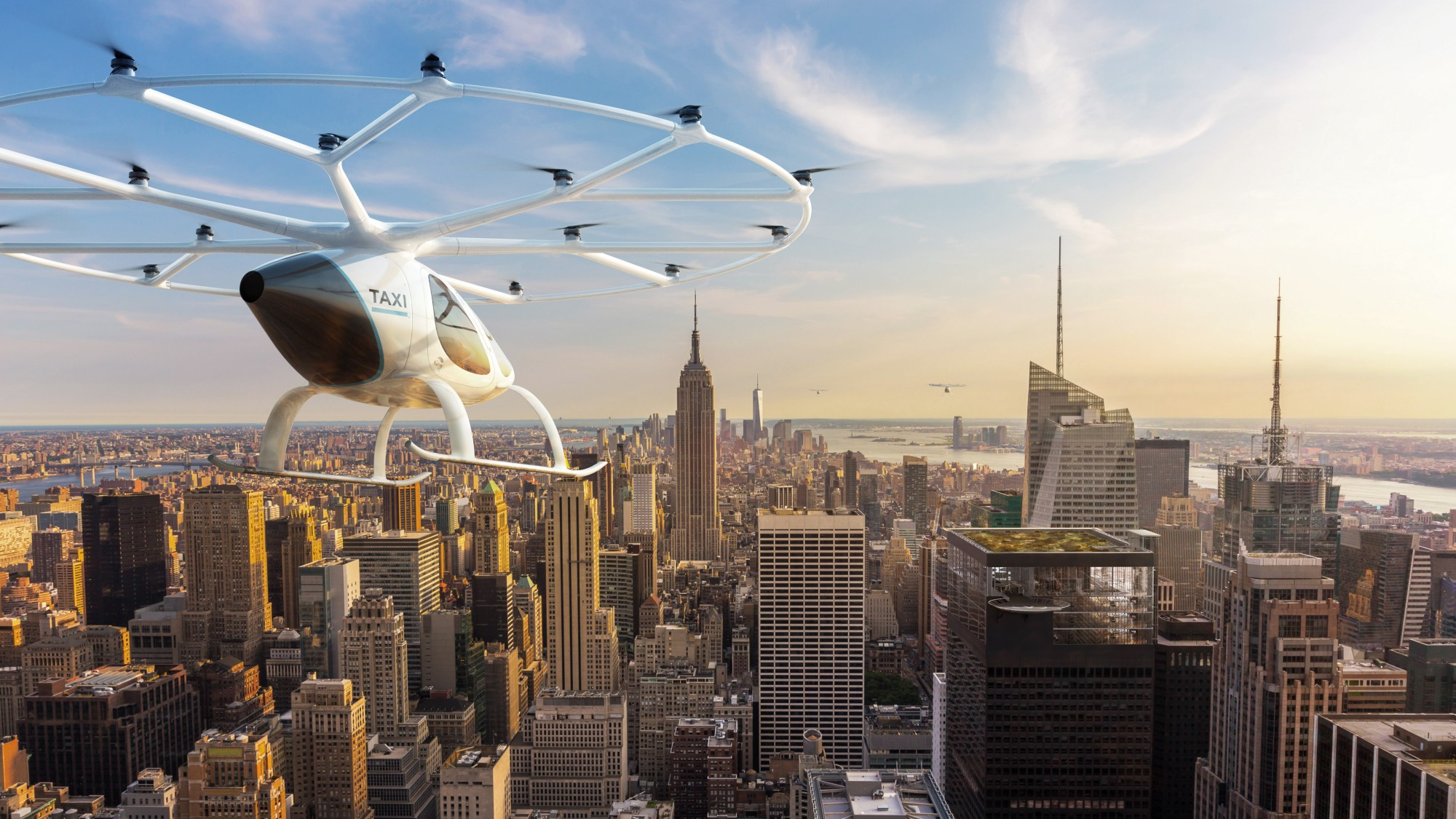 Volocopter panorama over New York City.