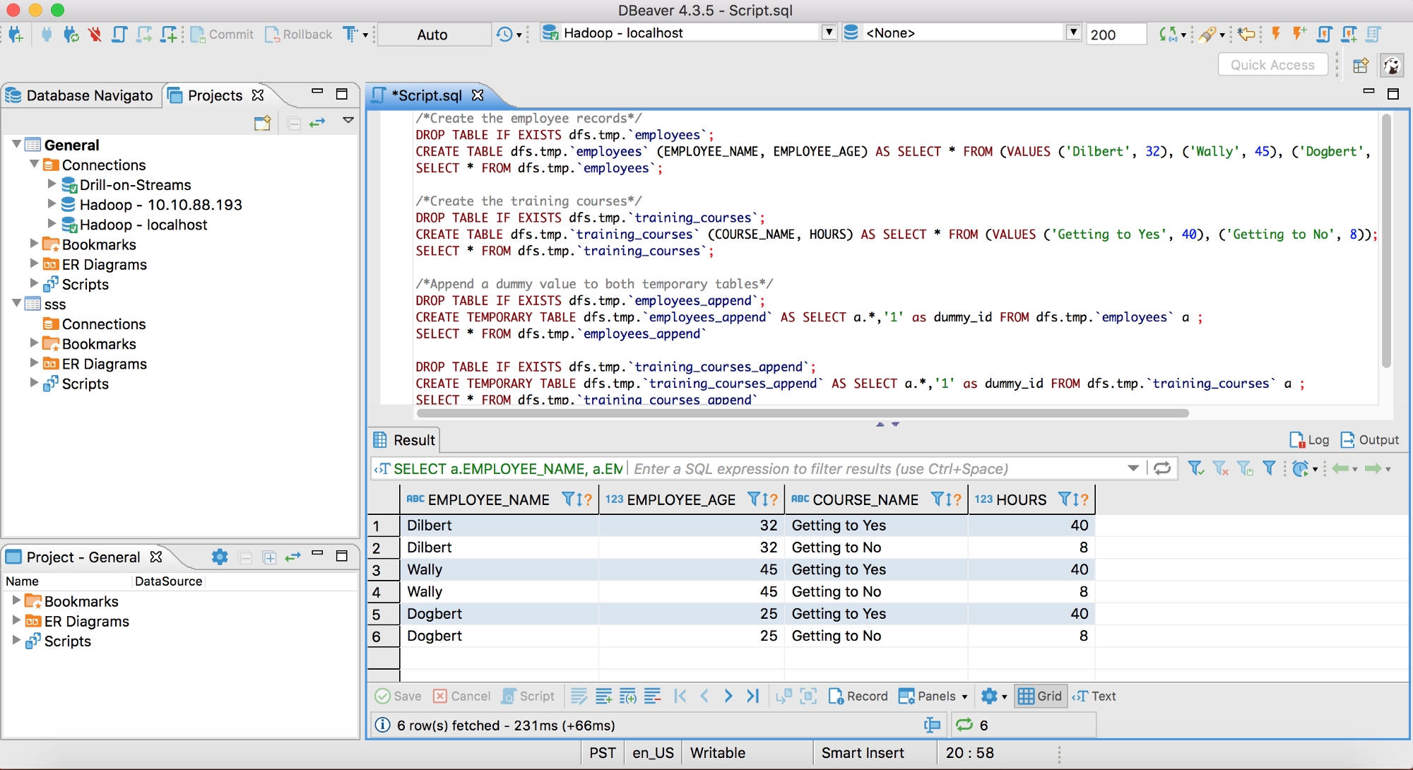 SQL at your Fingertips: Getting Started with Drill & DBeaver