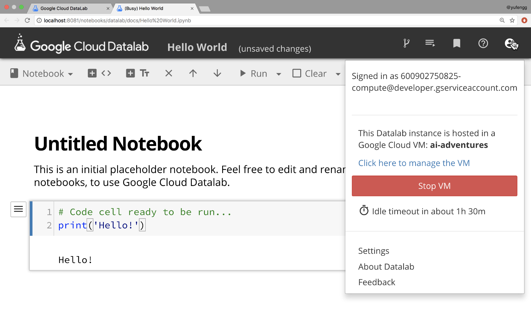 How to Datalab: Running notebooks against large datasets