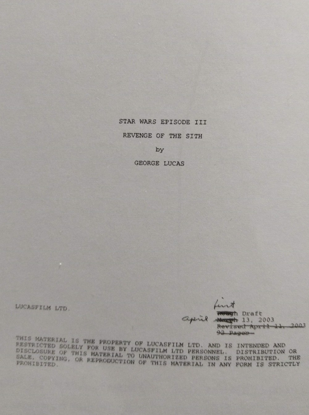 The Scripts Of Star Wars A List Of All Known Scripts Of The By Andrew G Medium