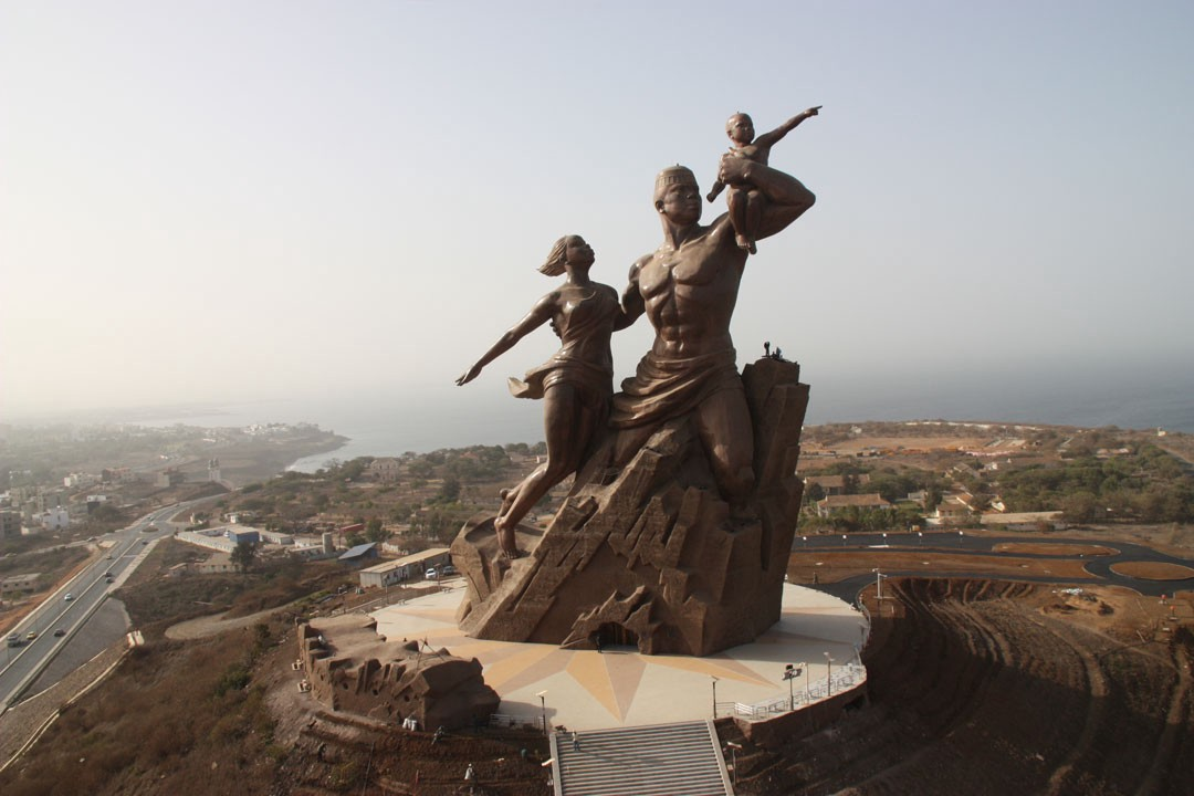 c411551b7 The African Renaissance Monument, a 164-foot-tall bronze statue outside of  Dakar, Senegal, built by North Korea's Mansudae Art Studio in 2010.