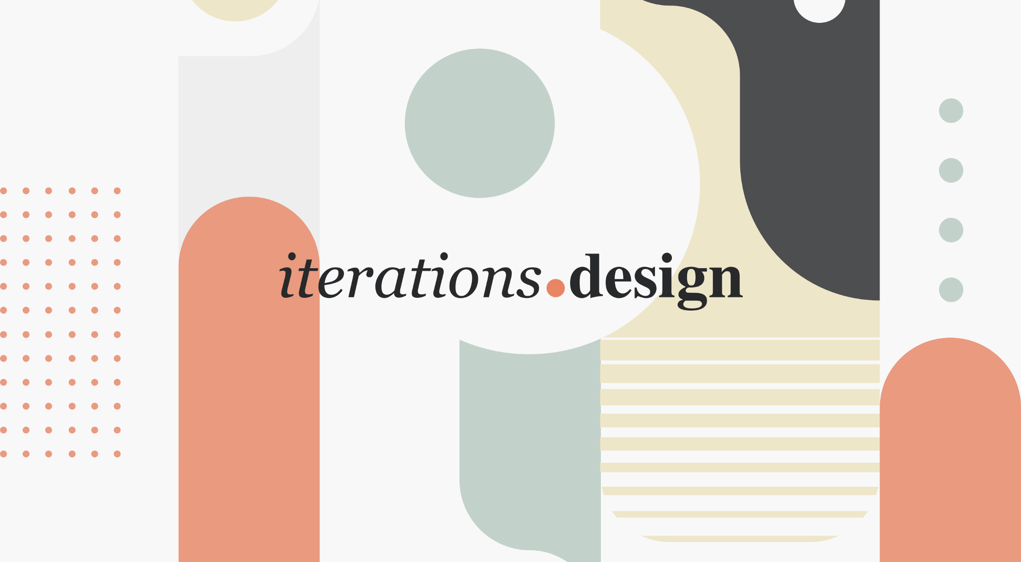 The hero image & name of iterations.design