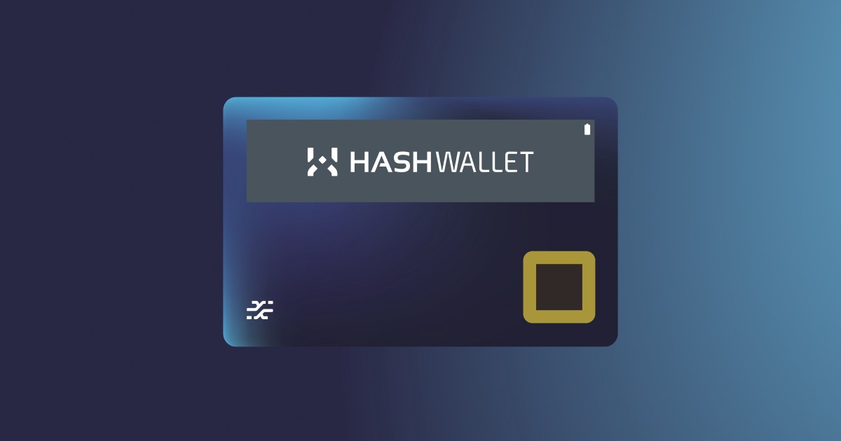 HASHWallet, The most secure hardwallet. Be in control.