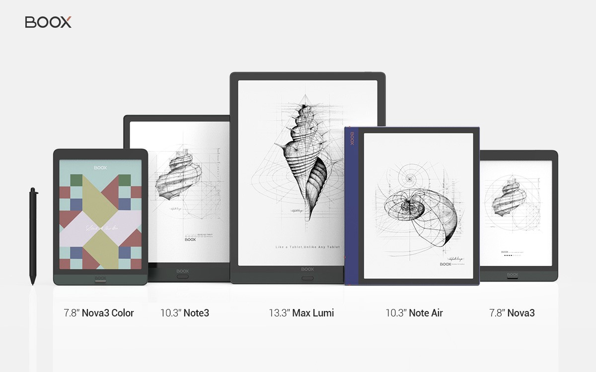 Recommeded BOOX E Ink tablets as 2021 Father's Day Gift