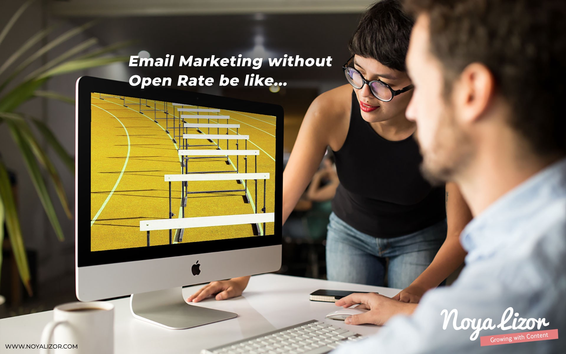 """""""R.I.P. Email Open Rate: Why Apple's Mail Privacy Protection update will be a pain in the butt, but not a death blow for Email Marketers."""" by Noya Lizor // www.noyalizor.com"""