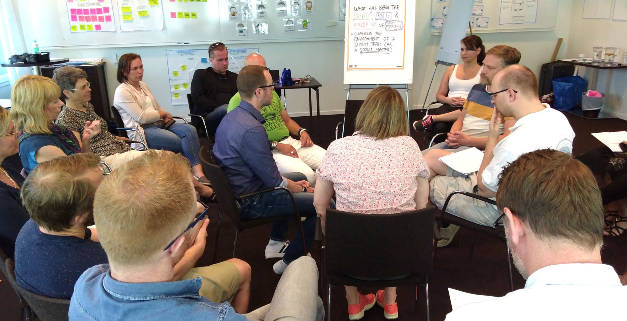 A UX Fishbowl in full-swing.