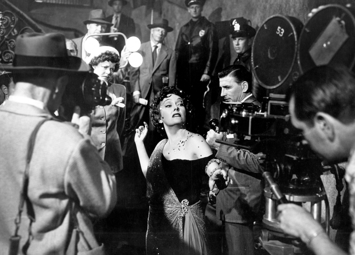 Gloria Swanson, as Norman Desmond, in the classic movie 'Sunset Boulevard'