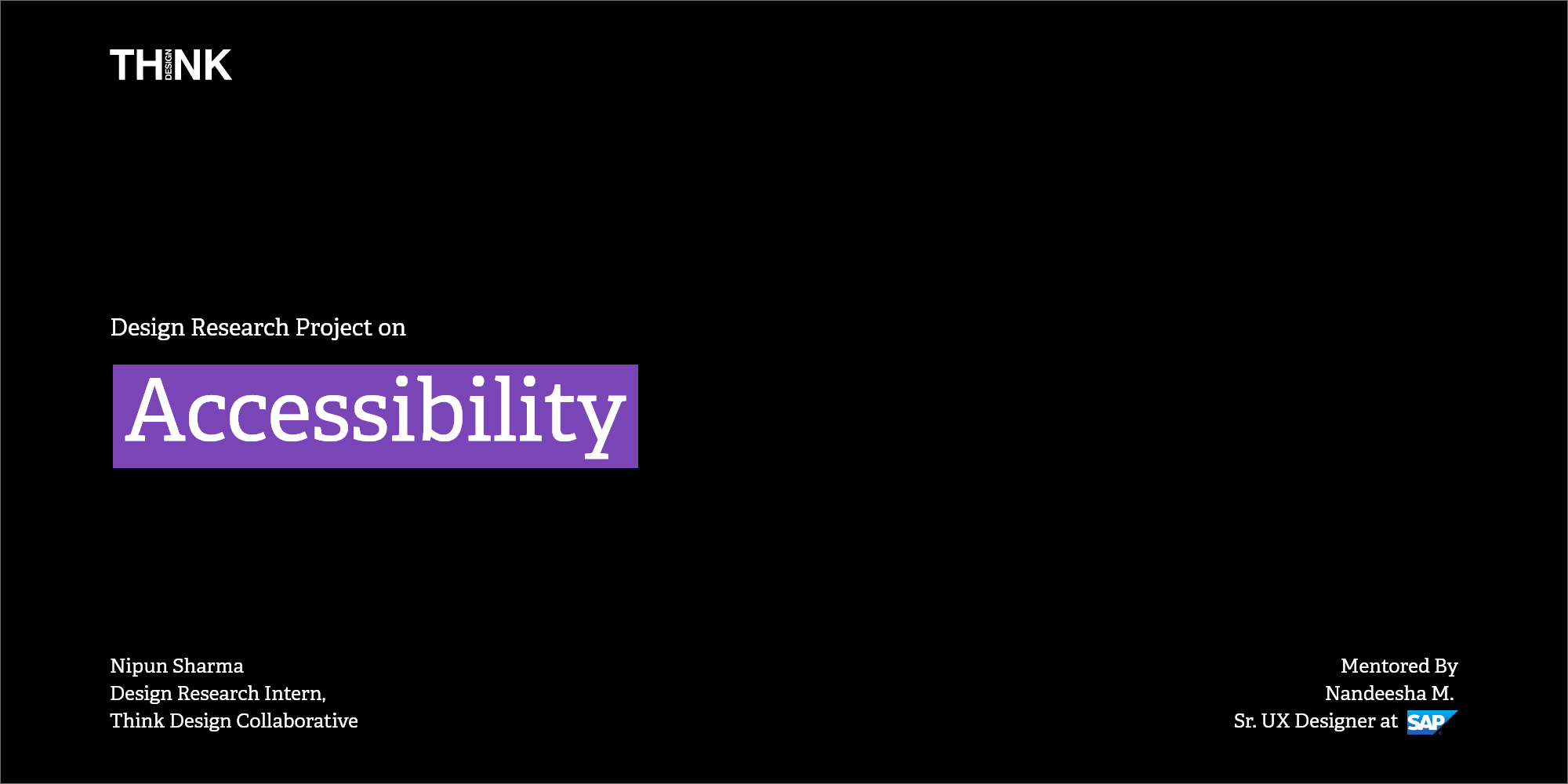 Design Research Project on Accessibility