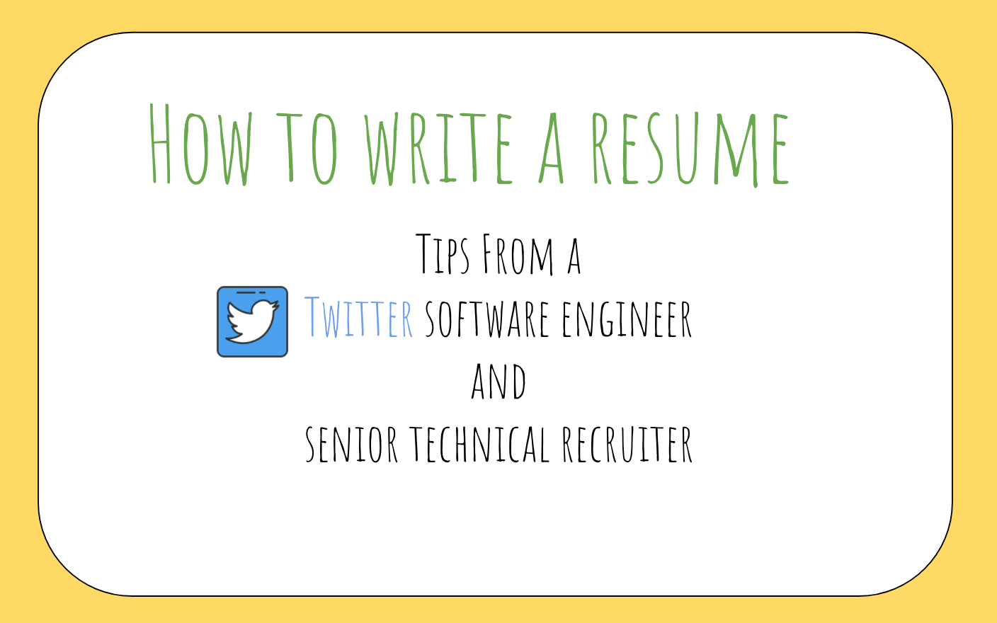 How to write a great resume for software engineers - The Startup
