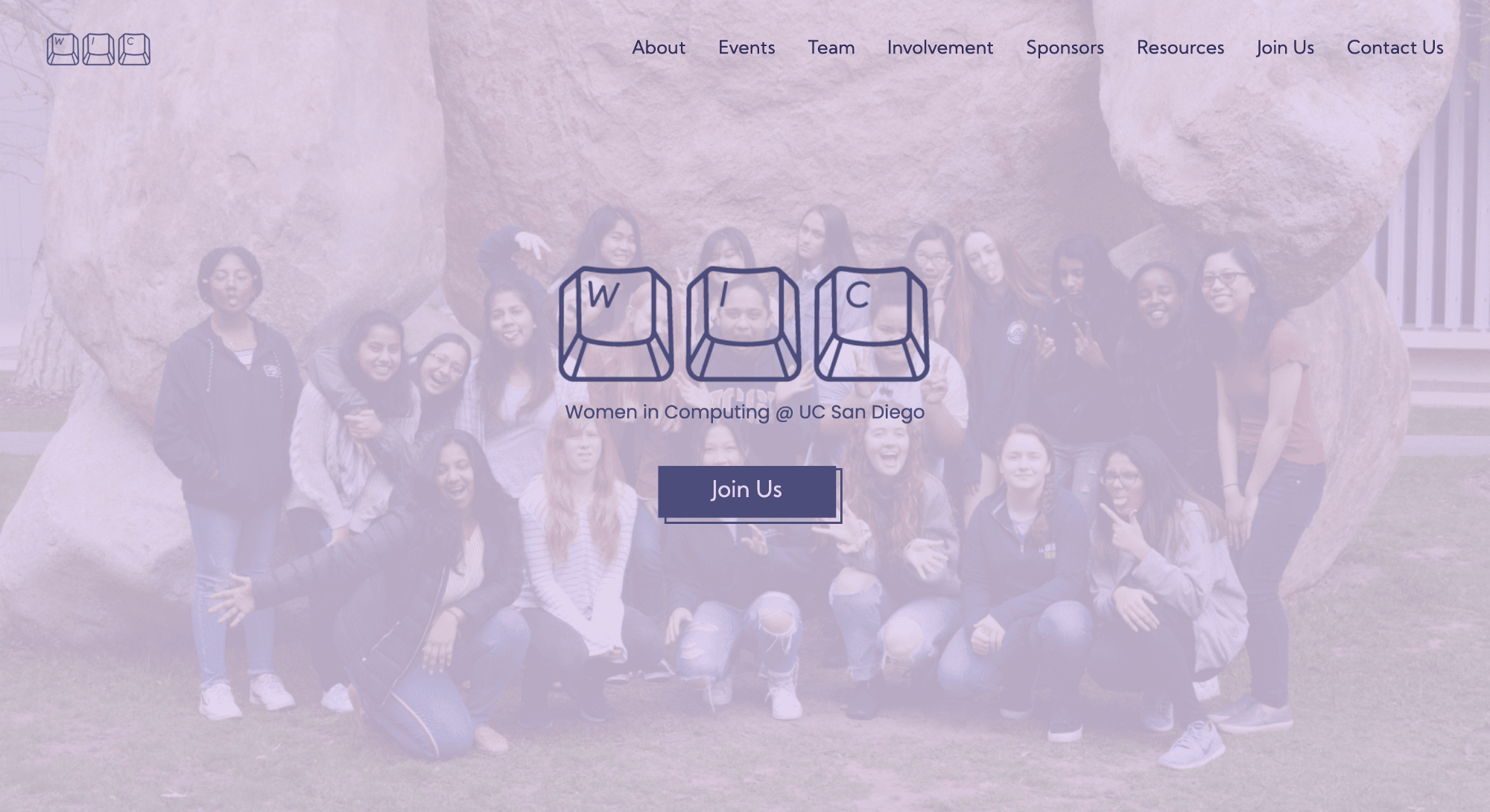Landing page of our new website live at wic.ucsd.edu!!