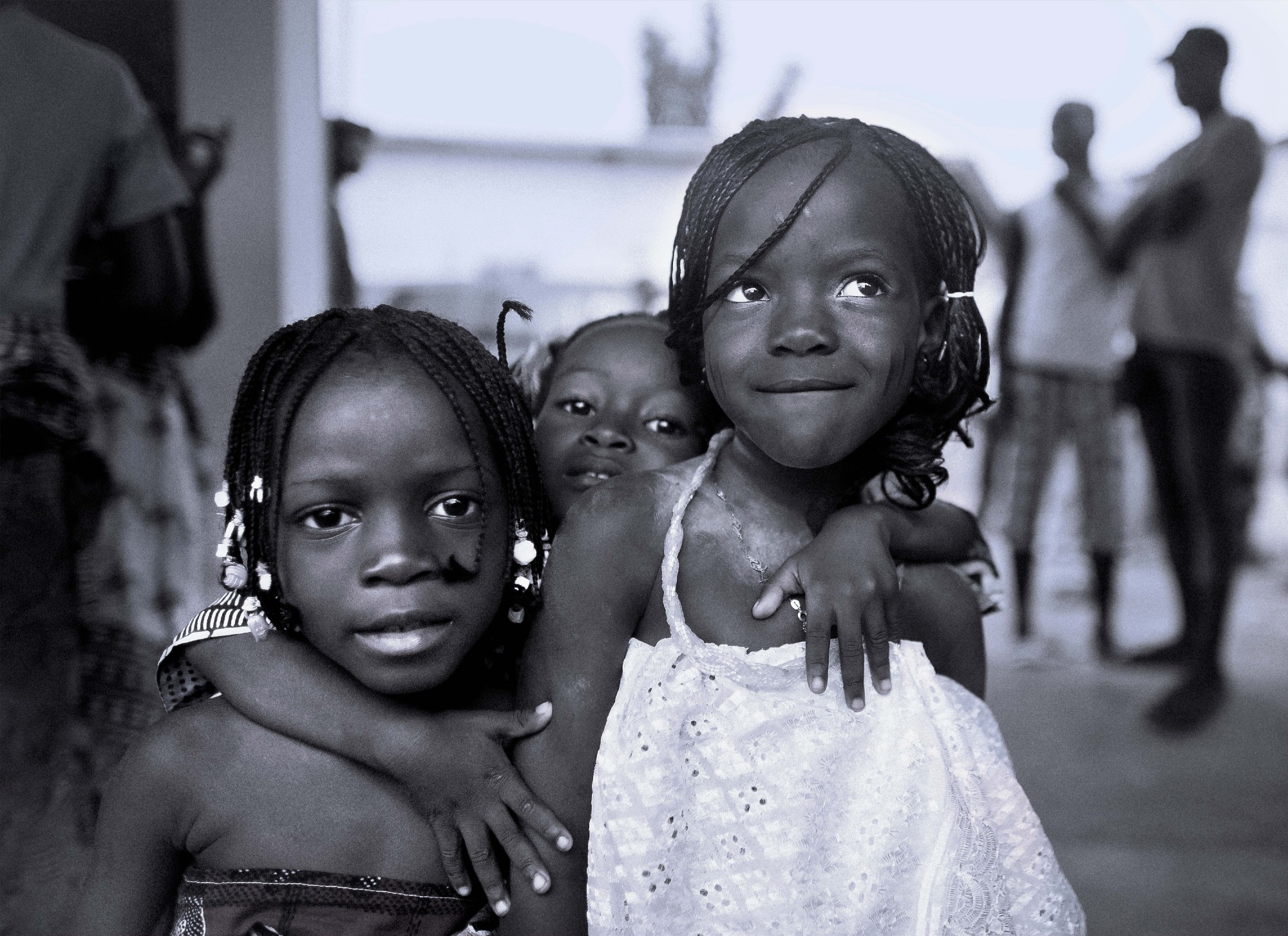 Three Small Girls in Benin
