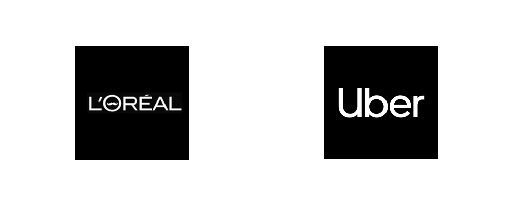 Brands using 'White' as their main theme color