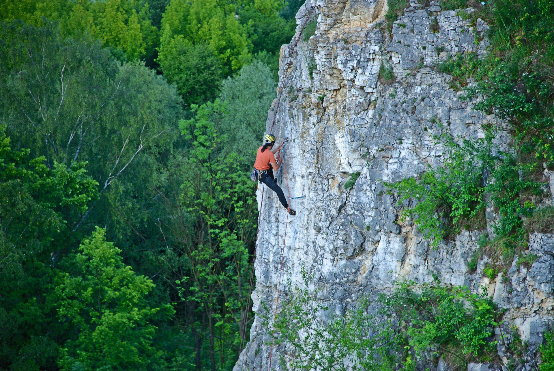 Rock Climber Sports Mountaineering Height Vacation