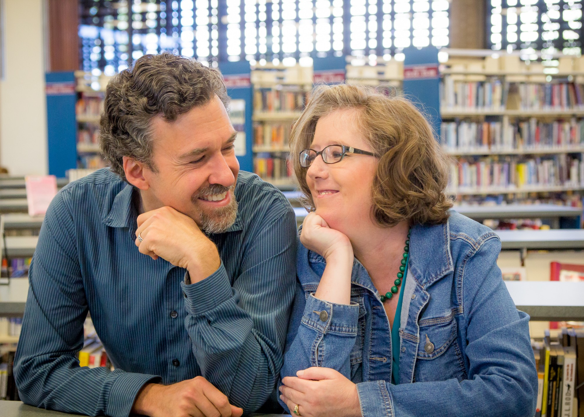 Photo of Juliet and Brian Freyermuth at Santa Rosa Library by author.