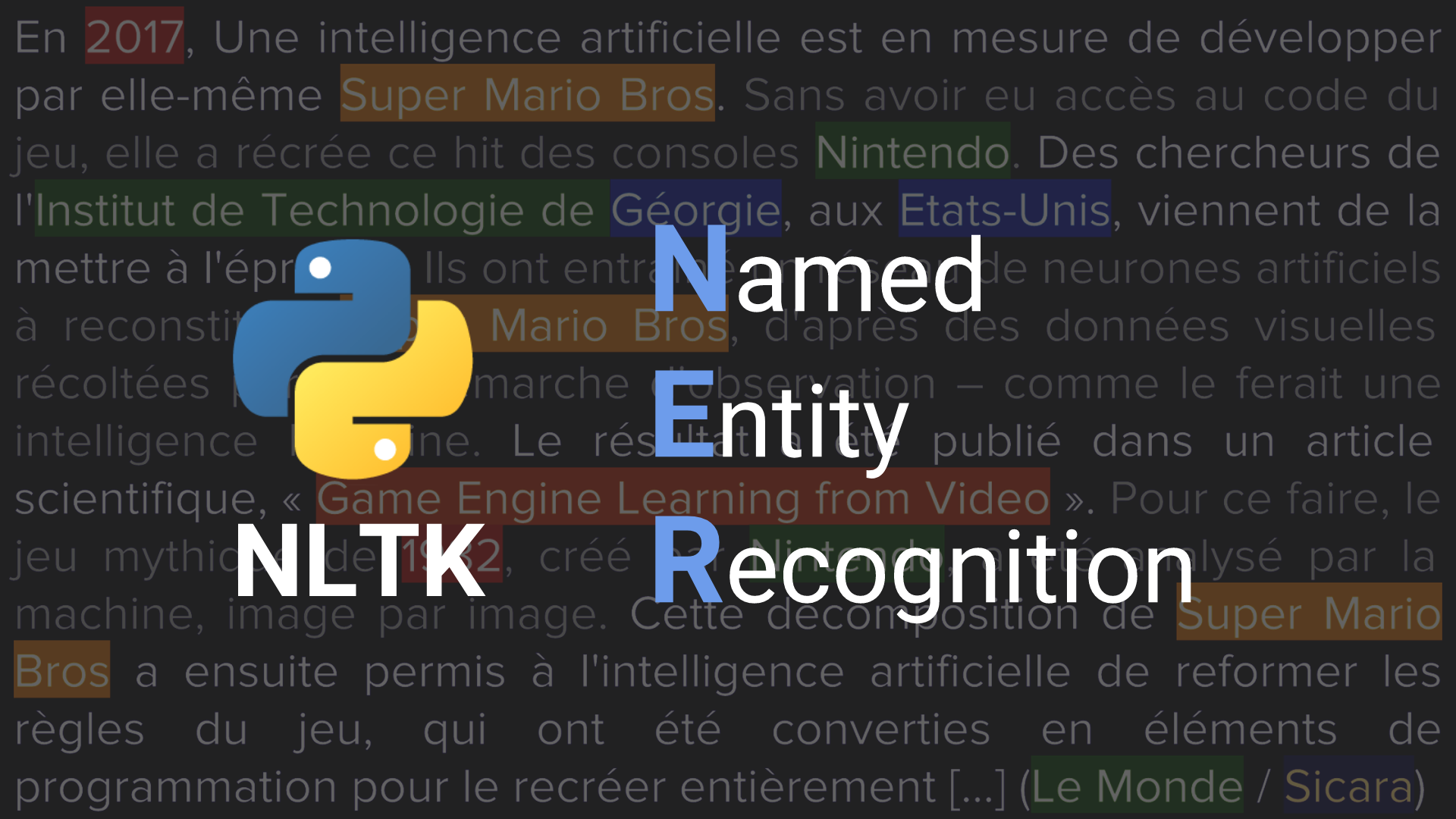 Python: How to Train your Own Model with NLTK and Stanford NER
