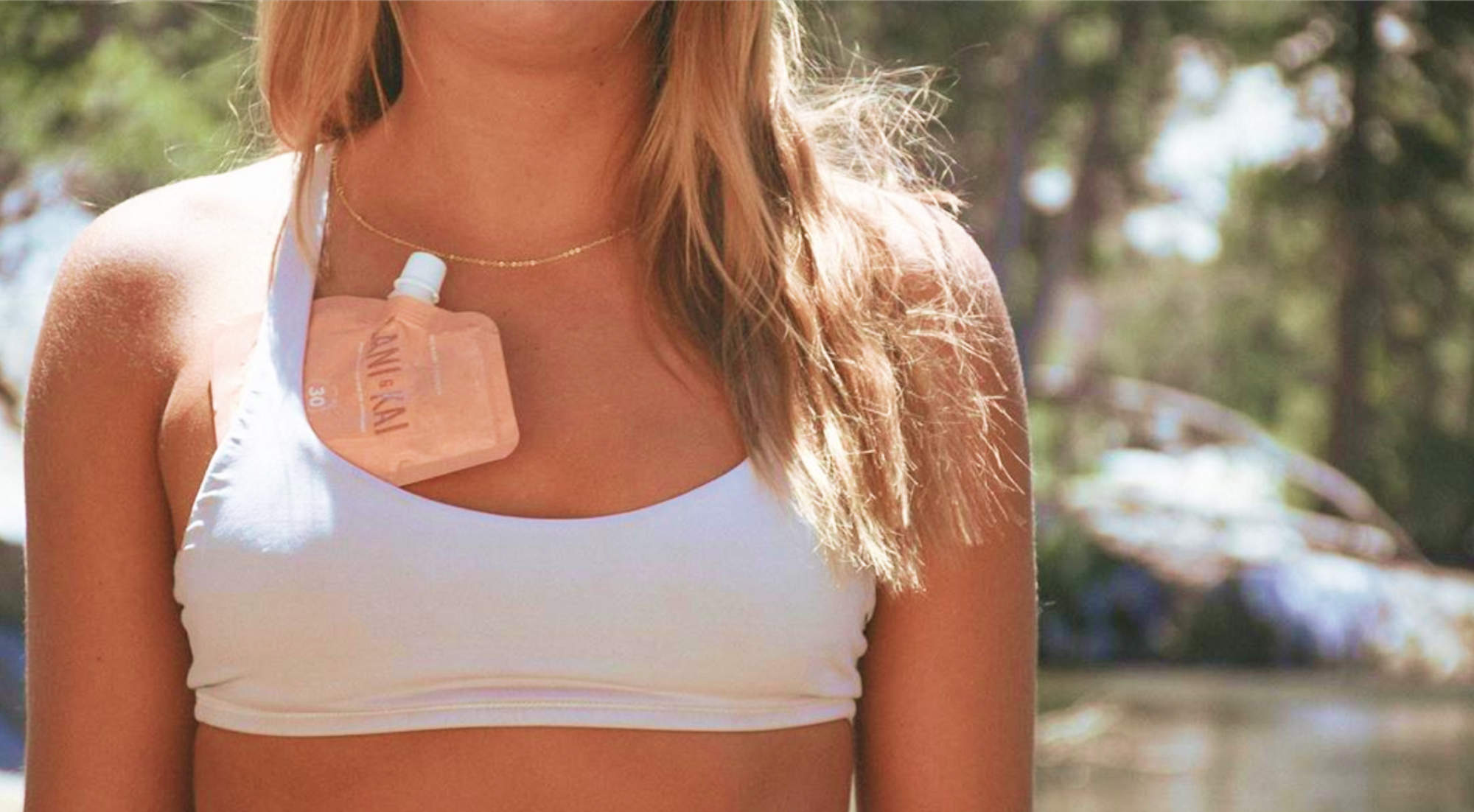 Sunscreen that fits in your sports bra perfect for running and hiking laniandkai