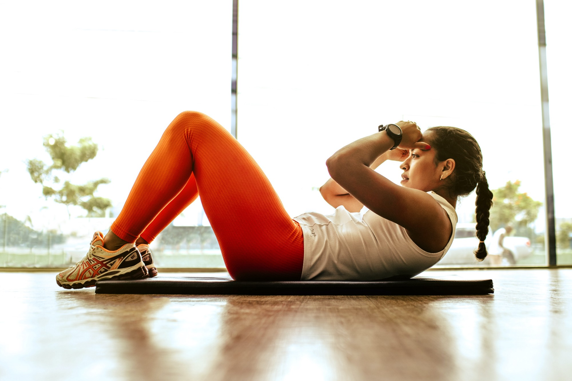 workout crunches