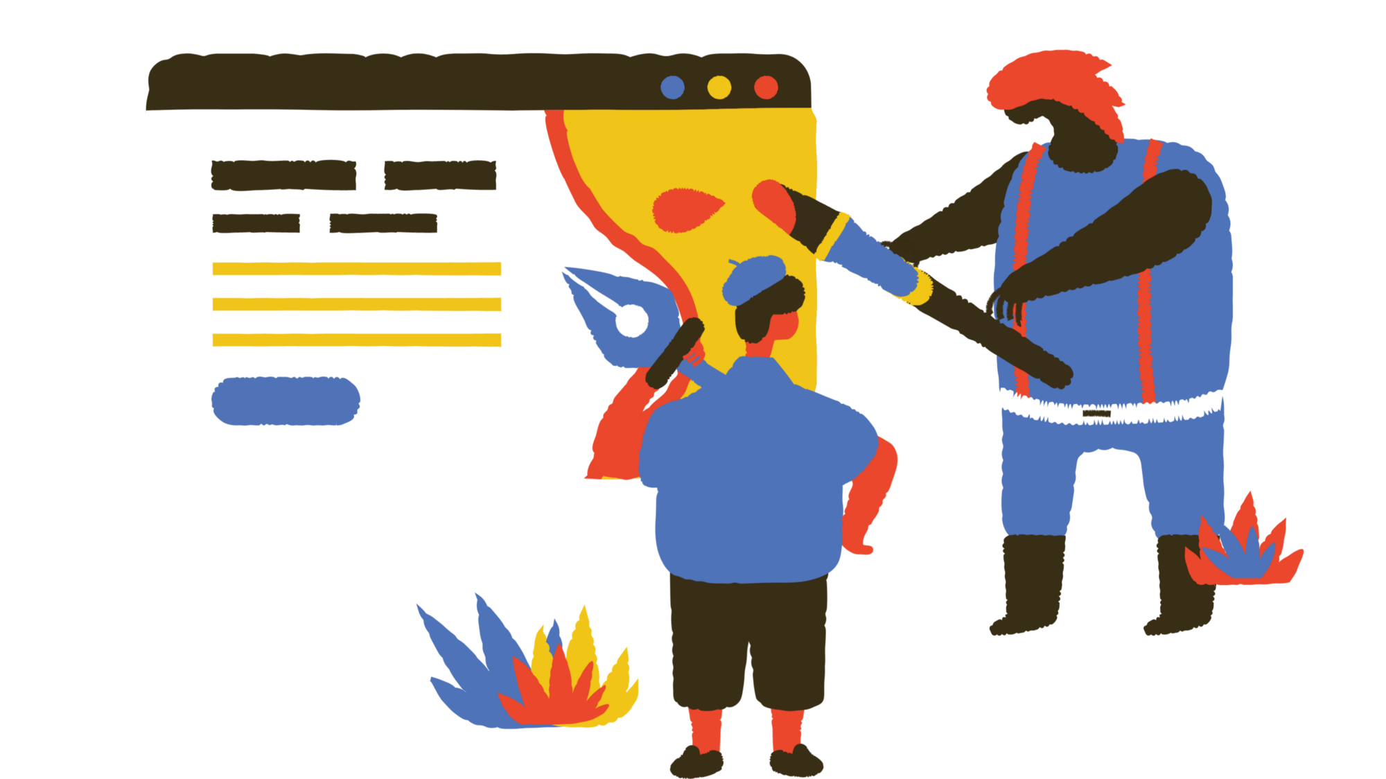 Testing a website (illustration from icons8.com)