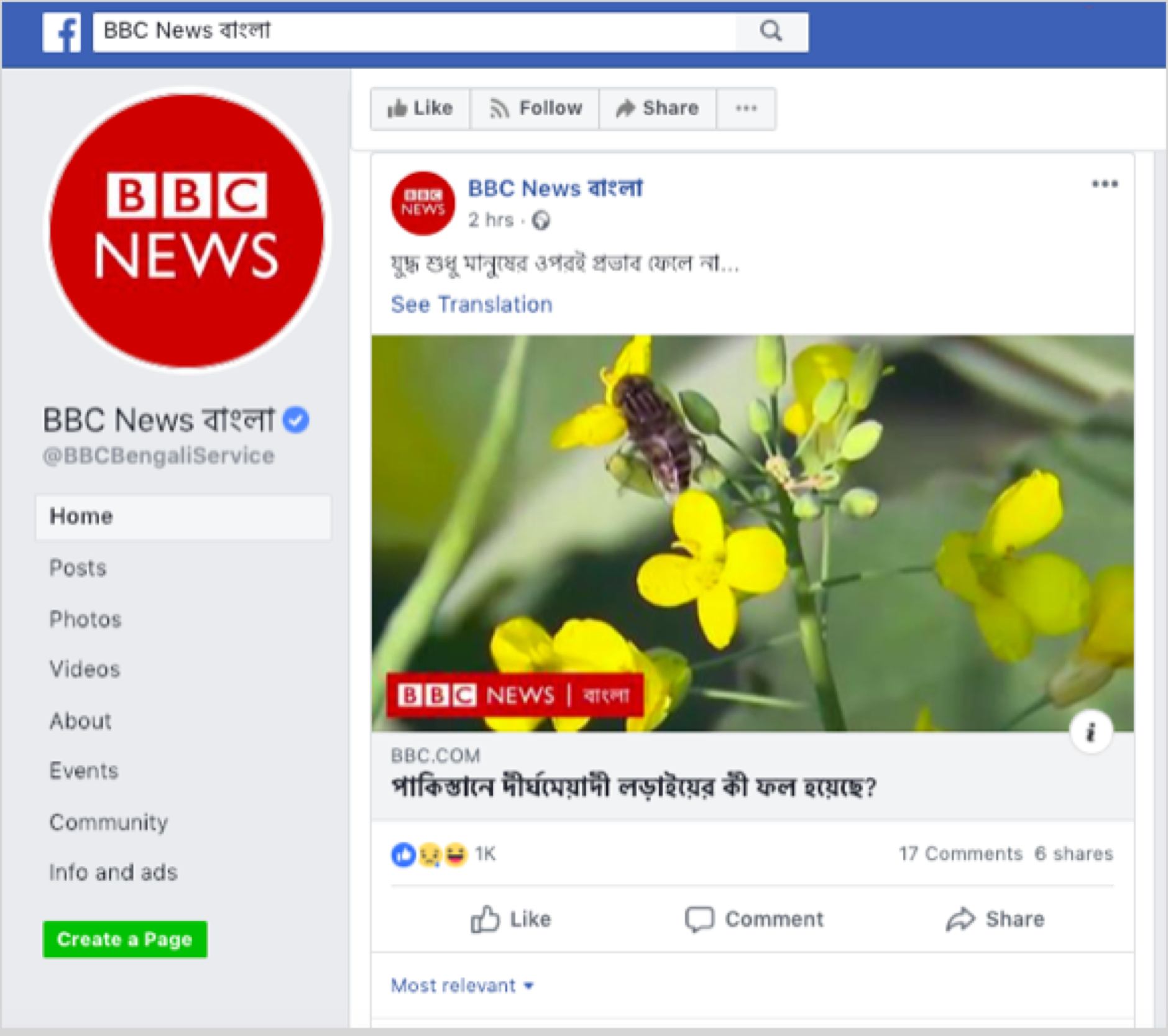 ElectionWatch: Counterfeit News Pages in Bangladesh