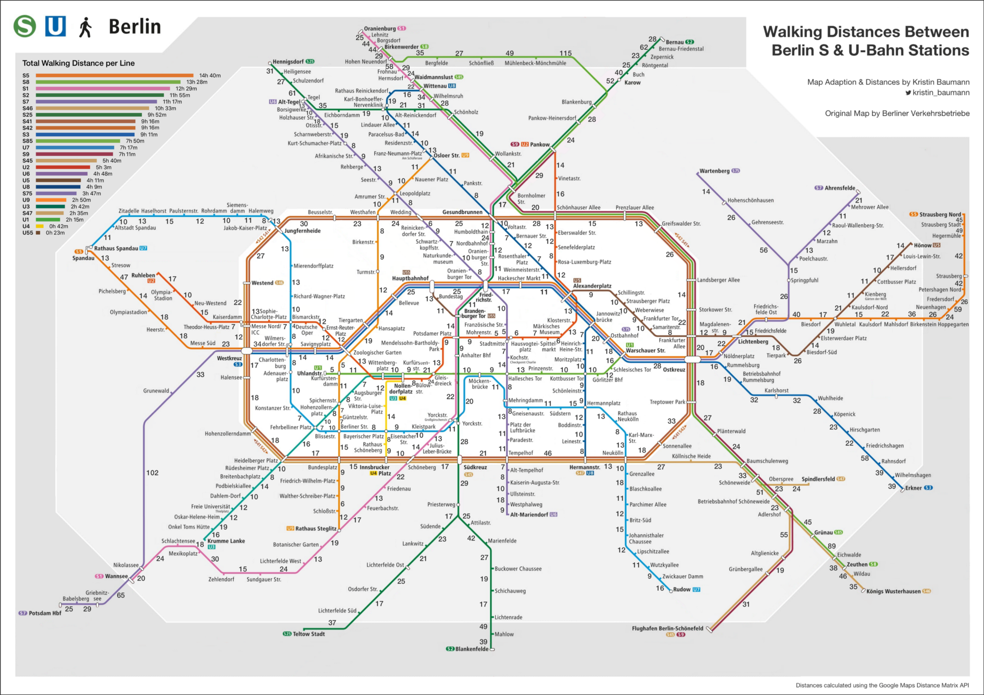 Berlin Train Map Walking the Berlin S  & U Bahn Network   Kristin Baumann   Medium
