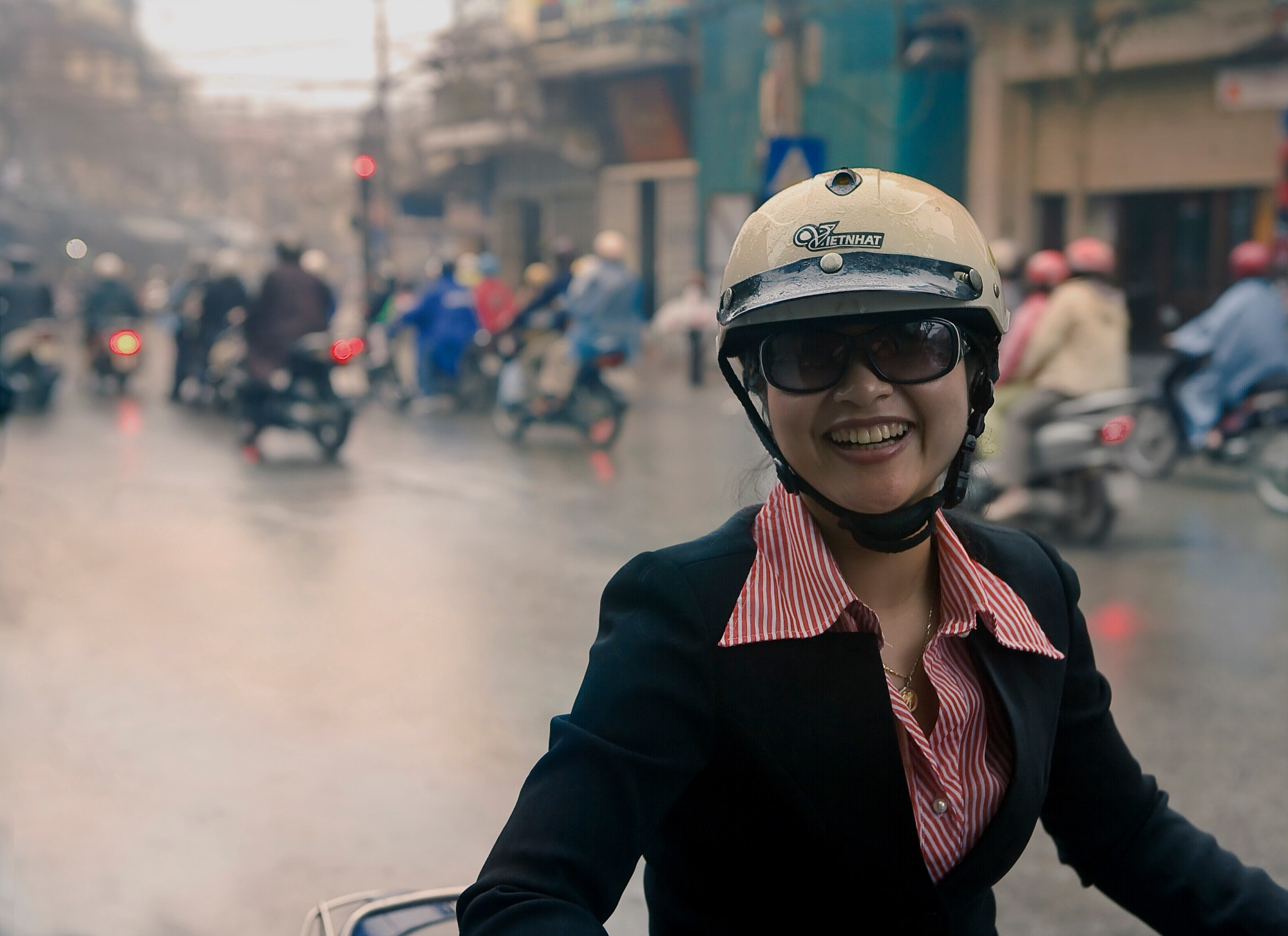 Young Woman on a Motorbike, Ho Chi Minh City, Vietnam